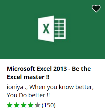 Udemy free Excel course.