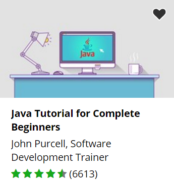 Udemy free Java course.