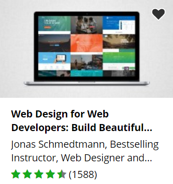 Udemy free web design course.