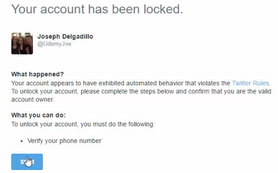 unlock twitter account